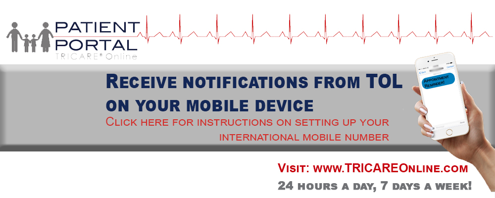 Receive notifications from TOL  on your mobile Device